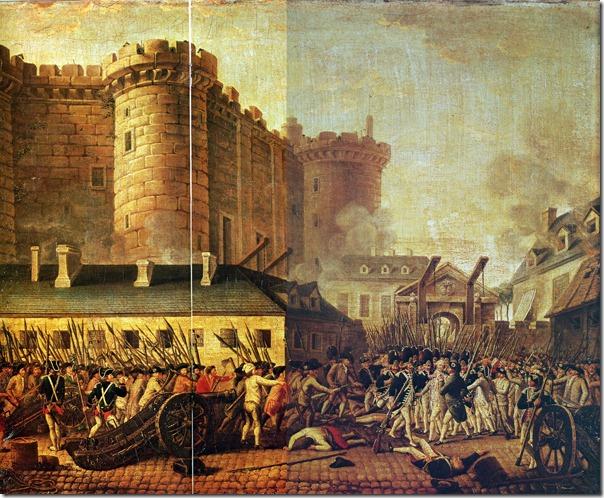 1789 14 juillet la prise de la bastille peinture anonyme
