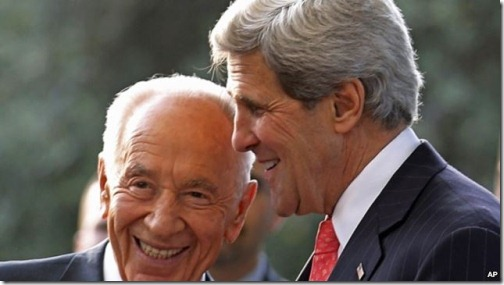 John Kerry meets with Israeli President Shimon Peres